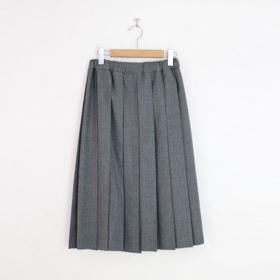 Charpentier de Vaisseau | ミルドサージプリーツスカート〈 Belle 〉Grey | C003162PS087