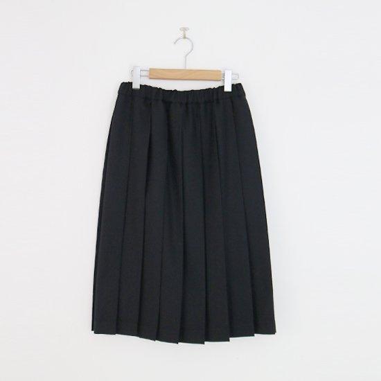 Charpentier de Vaisseau | ミルドサージプリーツスカート〈 Belle 〉Black | C003162PS087