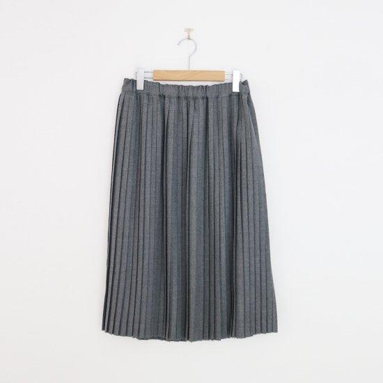 Charpentier de Vaisseau | ミルドサージナロープリーツスカート〈 Brenda 〉Grey | C003172PS216