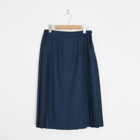 Charpentier de Vaisseau | ミルドサージラッププリーツスカート〈 Barbara 〉Dark Blue | C003212PS498