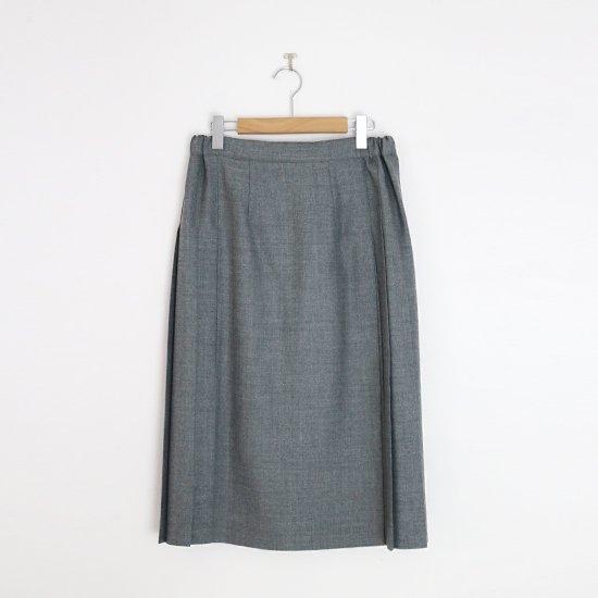 Charpentier de Vaisseau | ミルドサージラッププリーツスカート〈 Barbara 〉Grey | C003212PS498