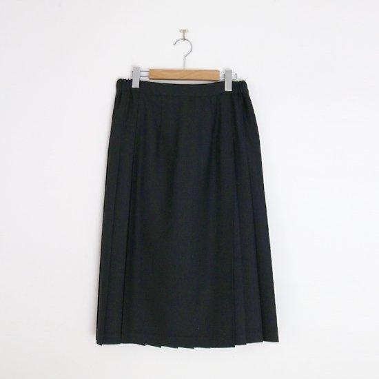 Charpentier de Vaisseau | ミルドサージラッププリーツスカート〈 Barbara 〉Black | C003212PS498