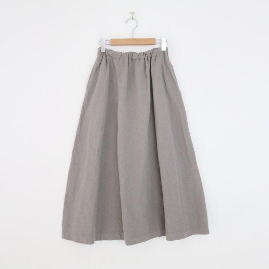 ゴーシュ | リネンコットンツイルスカート Grey | F019212PS463