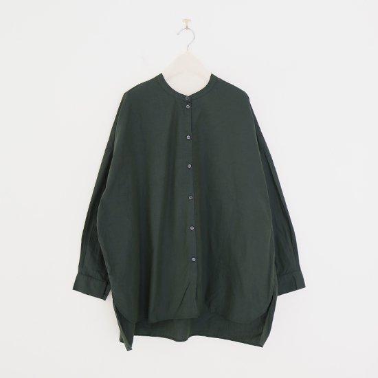 Gallego Desportes | バンドカラーシャツ Green | D001212TS226