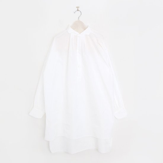 Gallego Desportes | ウェーブカラープルオーバーロングシャツ White | D001212TS225