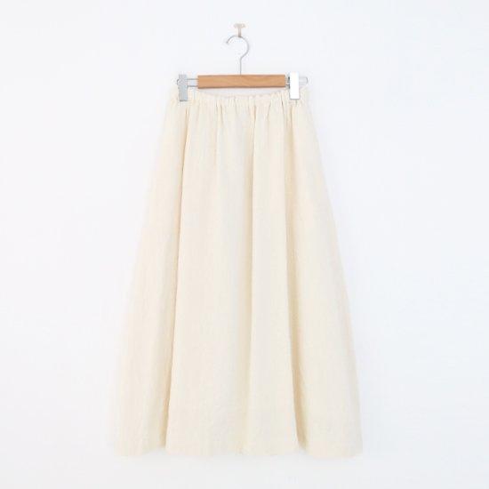 ゴーシュ | リネンウールへリンボンスカート White | F019212PS480