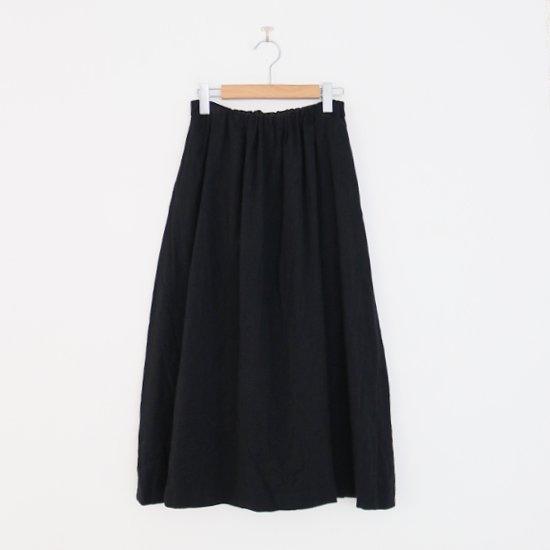 ゴーシュ | リネンウールへリンボンスカート Black | F019212PS480