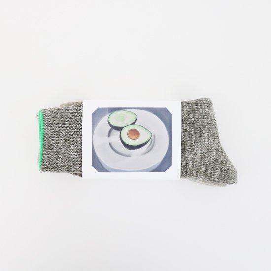 Babaco | ボタニカルダイ2ペアソックス 〈 Avocado 〉Green | F048212FS092
