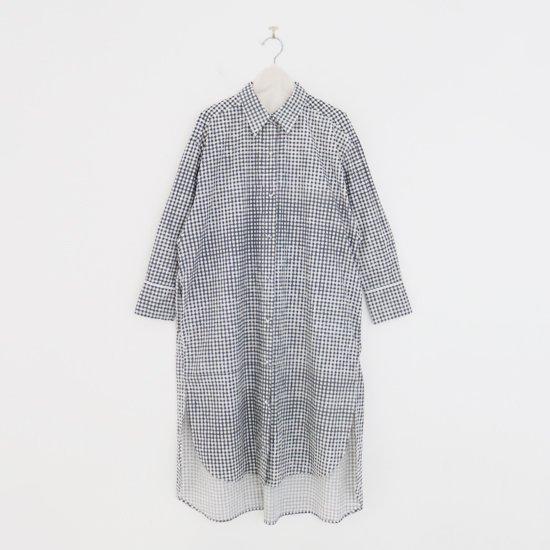 Aodress | プリンテッドロングシャツ White Check | F066212TD059