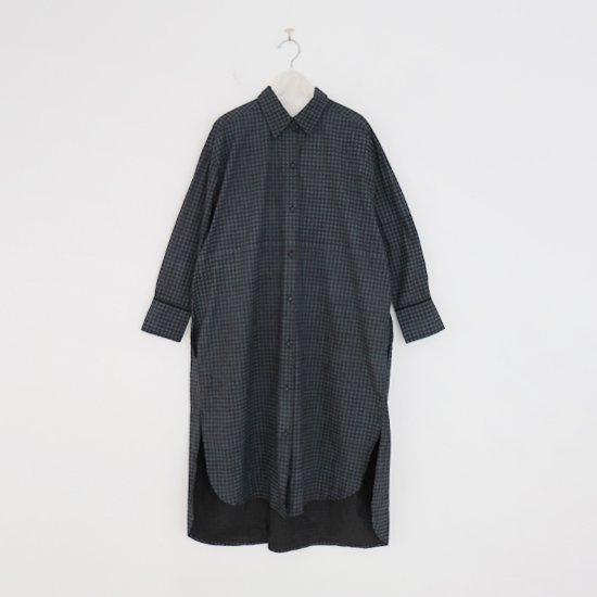 Aodress | プリンテッドロングシャツ Black Check | F066212TD059