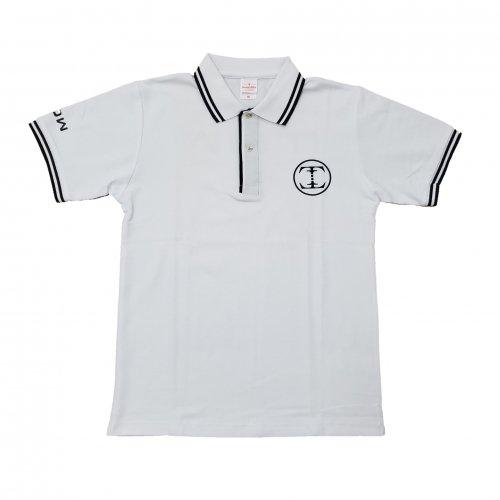 TDW サークルロゴ ドライポロシャツ ホワイト