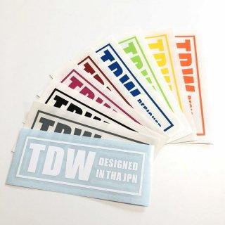 TDW ステッカー BOXロゴ
