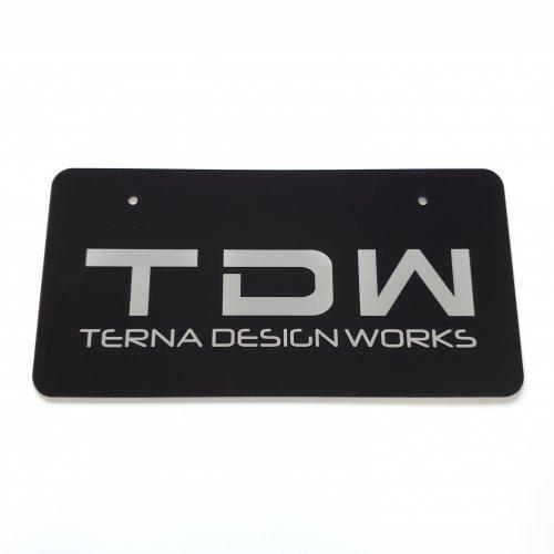 TDW アクリルナンバープレート フロント