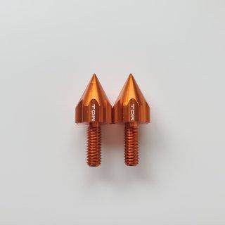 TDW ▲ナンバーボルト15mm REVOLVER 2個 オレンジ