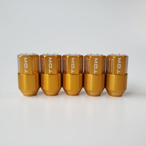 TDW カラーナット M12×P1.25 SwaroEffect SE40 20個 ゴールド