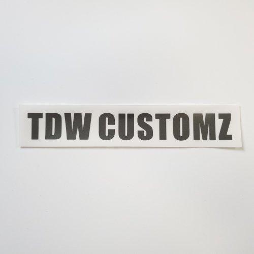 TDW CUSTOMZ ステッカー BLACK