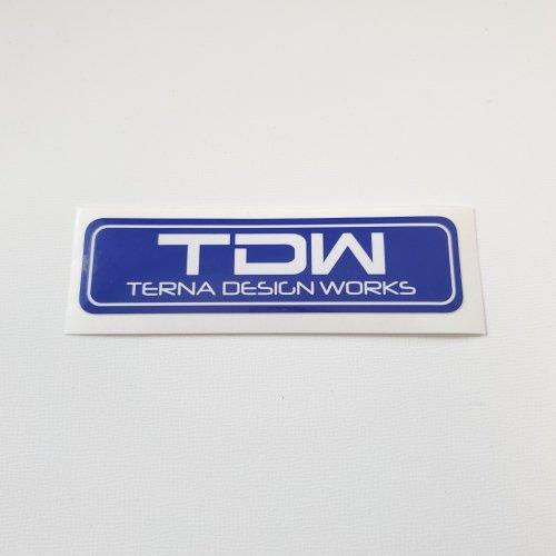 TDW TERNA DESIGN WORKS ステッカー(青+白)