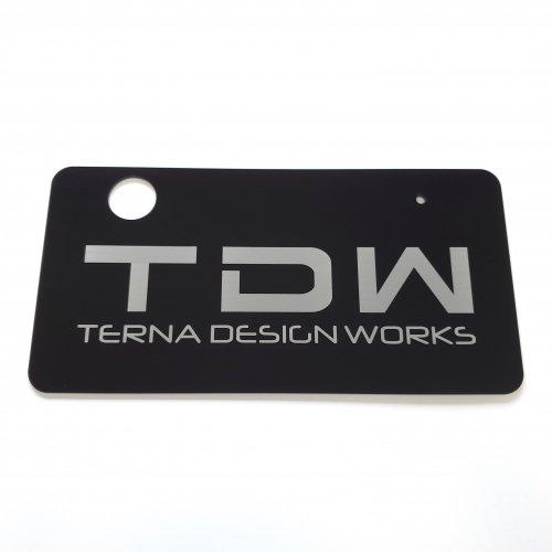 TDW アクリルナンバープレート 封印リング対応