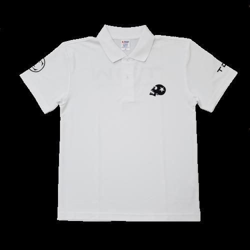 TDW スカルロゴ ドライポロシャツ ホワイト