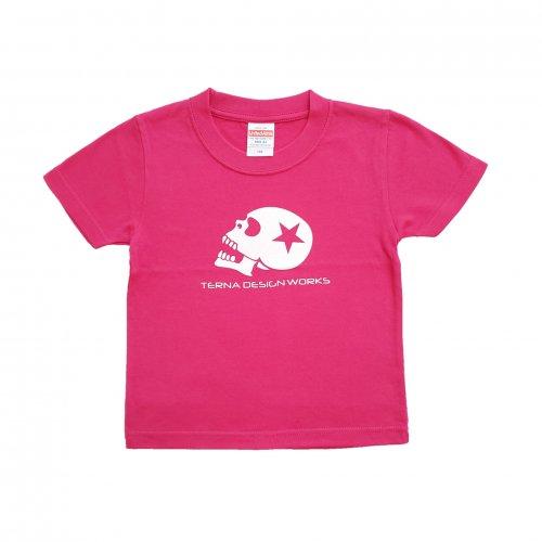 TDW キッズTシャツ スカルロゴ ピンク