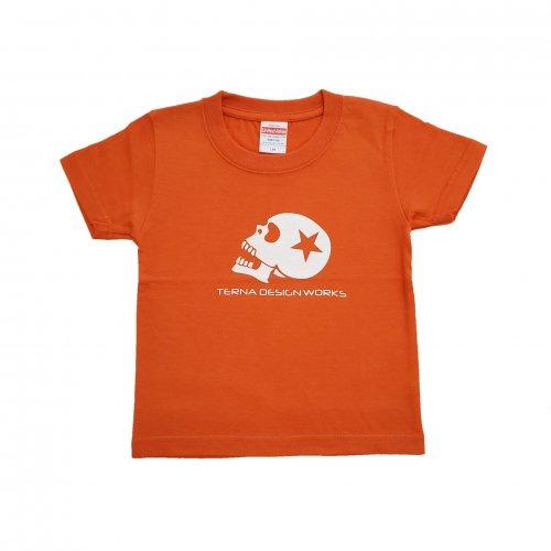 TDW キッズTシャツ スカルロゴ オレンジ