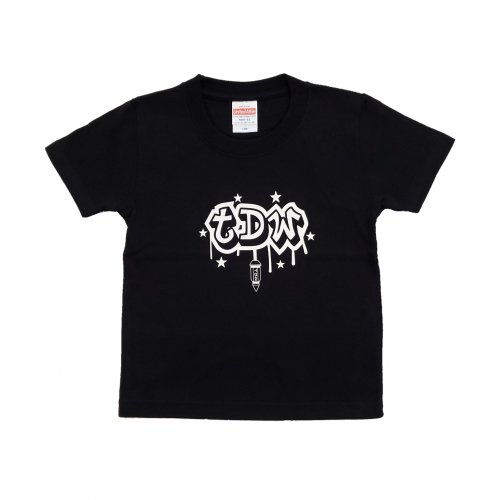TDW キッズTシャツ ナットロゴ ブラック