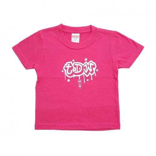 TDW キッズTシャツ ナットロゴ ピンク