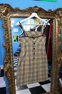 LADIES BURBERRY CHECK CAMISOLE ONE PIECE(バーバリー キャミワンピース)