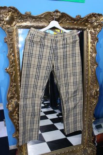 LADIES BURBERRY CHECK PANTS(バーバリー チェック パンツ)