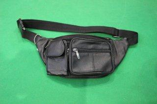 LEATHER WAIST BAG BLACK(レザー ウエスト ポーチ)