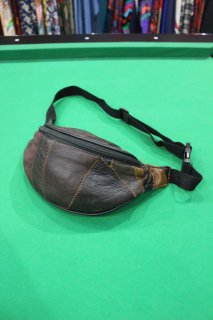 LEATHER PATCH WORK WAIST BAG(レザー パッチ ワーク ウエスト ポーチ)