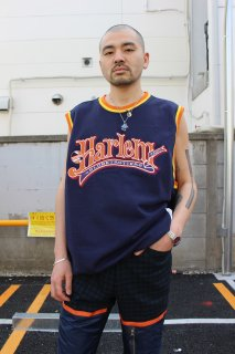 FUBU HARLEM GLOBETROTTERS NO-SLEEVE SWEAT TOPS(ハーレム ノースリーブ トップス)
