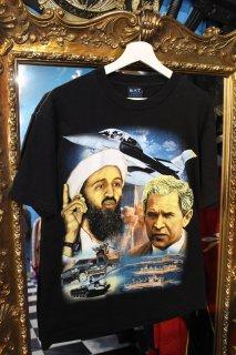 BUSH VS BIN LADIN T-SHIRT(ブッシュ大統領VSビン・ラディン Tシャツ)