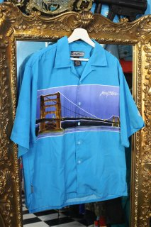 JOHNNY BLAZE TEXAS-CITY RAYON OPEN S/S SHIRTS(ジョニー・ブレイズ フリスコ 風景柄 開襟 シャツ)