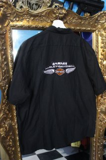 BARNES HARLEY DAVIDSON WORK S/S SHIRT(ハーレー ダビッドソン ワークシャツ)