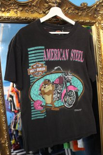 90's HARLEY DAVIDSON×TASMANIA DEVIL T-SHIRT(ハーレー×タスマニア・デビル Tシャツ)