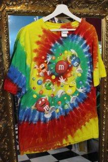 M&M's OFFICIAL TIE-DYE T-SHIRT(M&M's オフィシャル タイダイTシャツ)