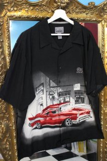 O'REILLY AUTO PARTS RAYON S/S OPEN SHIRT(オライリー・オート・パーツ レーヨン シャツ)