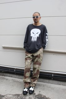 MARVEL PUNISHER L/S T-SHIRT(パニッシャー 長袖 Tシャツ)