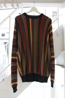 3D KNIT SWEATER STRIPE(3D ニット セーター)