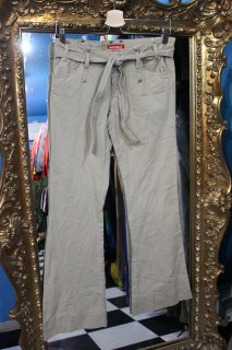 FLARE COTTON PANTS(フレア コットン パンツ ベルト付き)