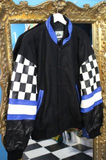 <img class='new_mark_img1' src='https://img.shop-pro.jp/img/new/icons20.gif' style='border:none;display:inline;margin:0px;padding:0px;width:auto;' />MELTON/LEATHER CHECK JACKET(メルトン/レザー チェック ジャケット)