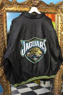 NFL JACKSONVILLE JAGUAR LEATHER JACKET(ジャクソンビル・ジャガーズ レザー 襟付き ジャケット)