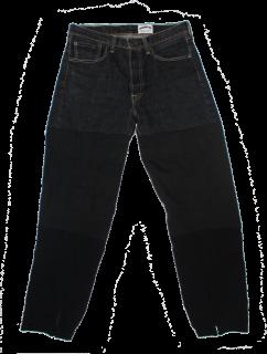 REMAKE DENIM CARGO TRACK PANTS