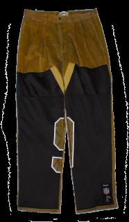 REMAKE CORDUROY DOUBLE KNEE PANTS(BK)