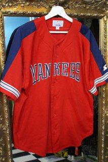 MLB NEW YORK YANKEES B/B SHIRT RD(ニューヨーク・ヤンキース ベースボール シャツ)
