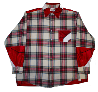 REMAKE NFL FLANNEL CHECK L/S SHIRT(RED)