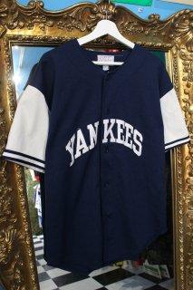 MLB NEW YORK YANKEES B/B SHIRT NV(ニューヨーク・ヤンキース ベースボール シャツ)