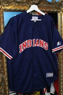 MLB CLEVELAND INDIANS B/B SHIRT(クリーブランド・インディアンス ベースボール シャツ)