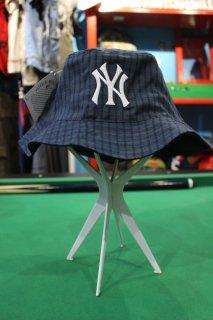 MLB NEW YORK YANKEES GINGAM CHECK BUCKET HAT(ニューヨーク・ヤンキース キンガムチェック バケット・ハット)